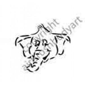 0260 elephant reusable stencil